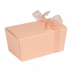 Packaging luxe pour chocolatiers pâtissiers - Ballotin Ruban Poudrée