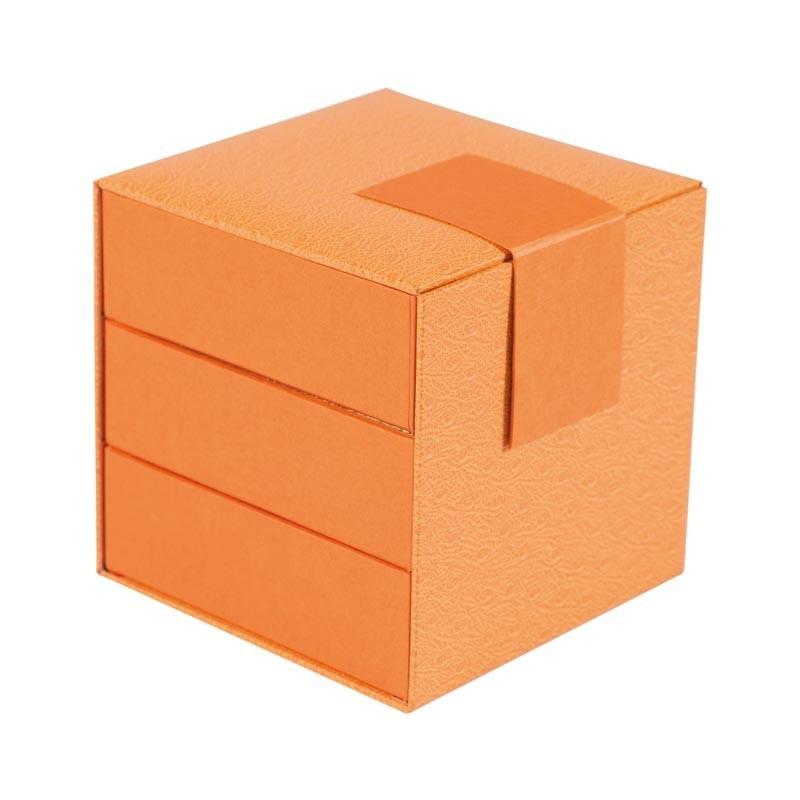 Déstockage pakaging boîte cube orange à compartiments - Cyrano Kenya