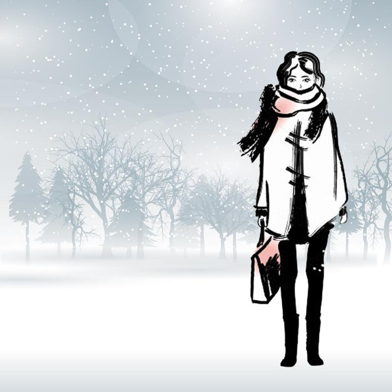 Packaging personnalisé Fashionista sous la neige - Carte Caméléon F-06