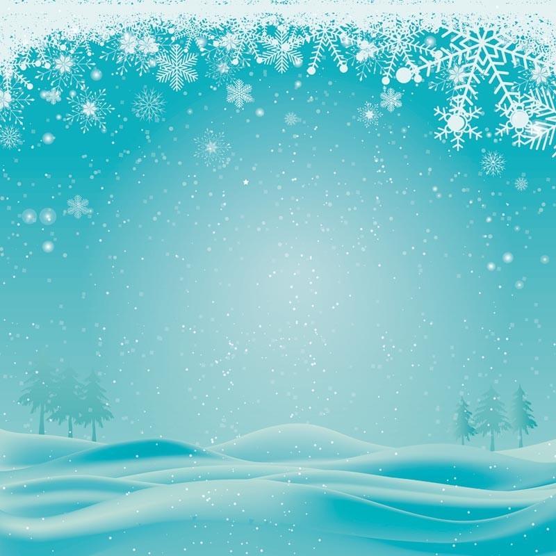 Packaging personnalisé Illustration Paysage hivernal - Carte Caméléon