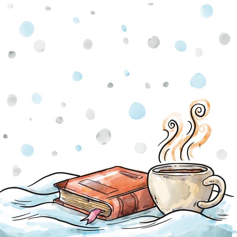 Packaging personnalisable Illustration hivernale - Carte Caméléon
