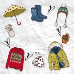 Carte Caméléon personnalisée Illustrations Les Accessoires de l'hiver
