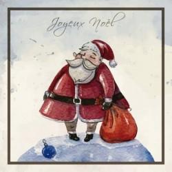 Packaging personnalisé - Carte Caméléon Illustration Père Noël