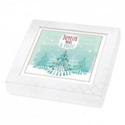 Packaging alimentaire personnalisé - Carte Caméléon Joyeux Noël à Vous