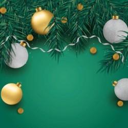 Packaging alimentaire personnalisé - Carte Caméléon Boules de Noël