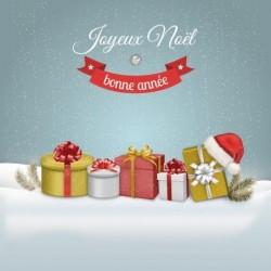 Packaging personnalisé - Carte Caméléon Joyeux Noël et Bonne Année !