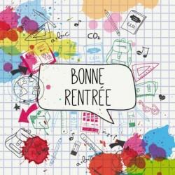Emballage personnalisé Bonne Rentrée Scolaire - Carte Caméléon I-04