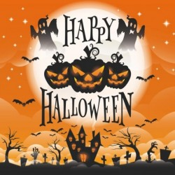 Emballage Personnalisé Happy Halloween - Carte Caméléon I-06