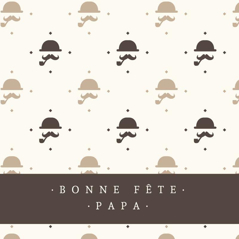 Emballage de Luxe Personnalisé Bonne Fête Papa - Carte Caméléon I-09