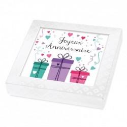 Emballage personnalisé Joyeux Anniversaire - Boîte Caméléon I-11