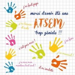 Boîte Personnalisable pour Rentrée des classes - Version Atsem - Carte Caméléon I-12