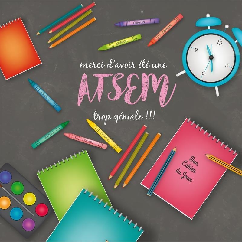 Packaging personnalisé pour rentrée des classes - Version Atsem - Carte Caméléon I-13