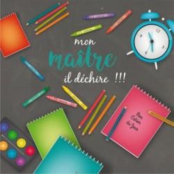Packaging personnalisé pour rentrée des classes - Version Maître - Carte Caméléon I-13