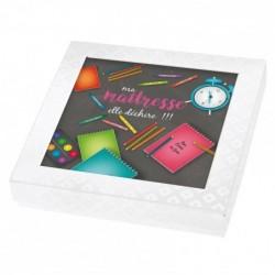 Packaging personnalisé pour rentrée des classes - Version maîtresse - Boîte Caméléon I-13