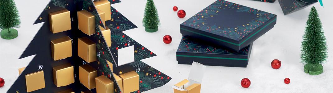 Packaging de Noël - Callendrier de l'Avent en forme de sapin de Noël