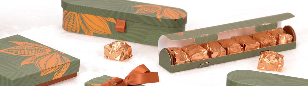 Packaging, boîtes, emballages pour Marrons Glacés.