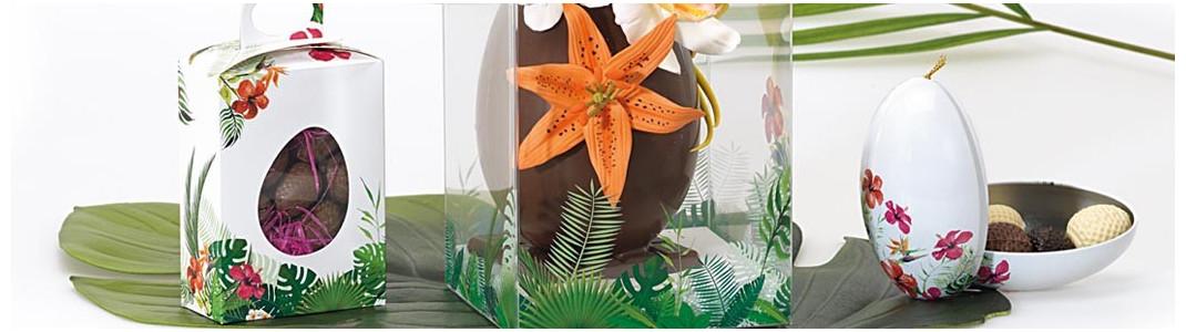 Emballages alimentaires pour chocolat de Pâques - Collection Tropicale