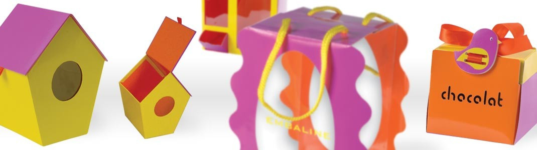 Packaging alimentaire de luxe pour Pâques - Collection Tournicotti
