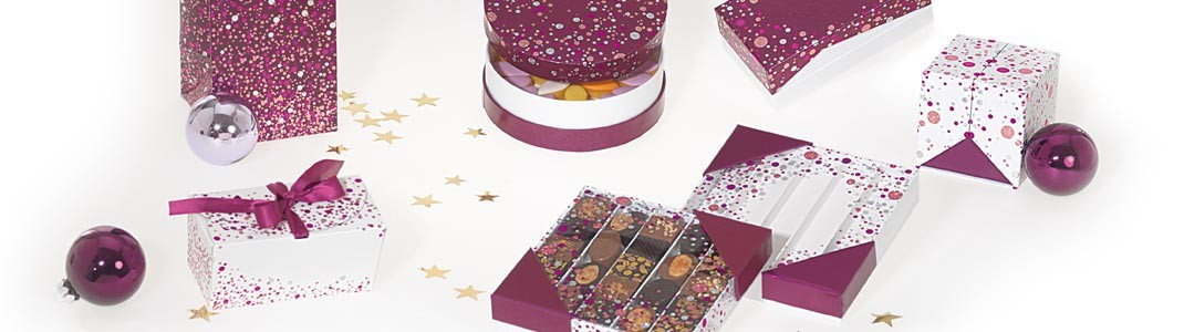 Collection pétillante de Packaging pour chocolatiers - Happy Confettis