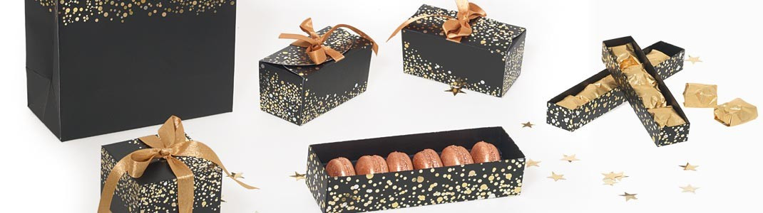 Gamme de packaging alimentaire grand luxe - Collection Paillettes
