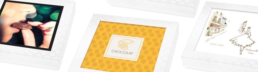 Cartes Caméléon sur le thème des Boutiques et du Chocolat