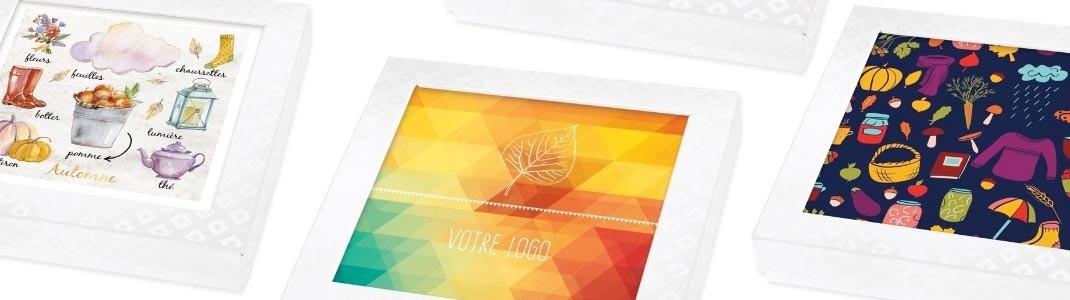 Cartes Caméléon sur le thème de l'Automne pour graphisme personnalisé