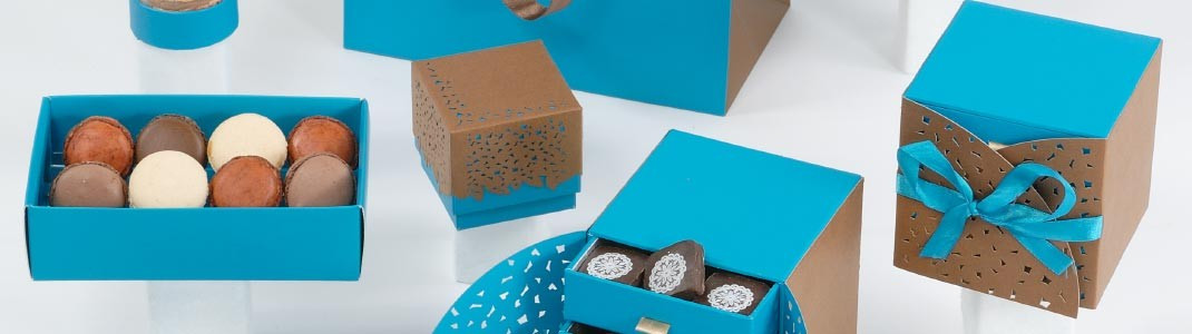 "Collection de packaging ""Curaçao"" en ventes privées pour chocolatiers"