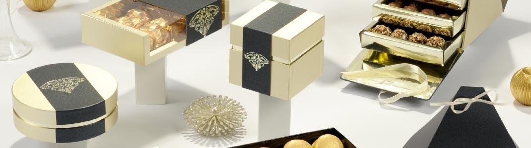 """Collection de packaging """"Pompadour"""" classiques et luxeux en promotion"""
