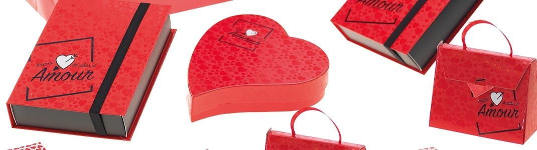 Collection de Packagings et Jeu Besoin d'Amour pour la Saint-Valentin