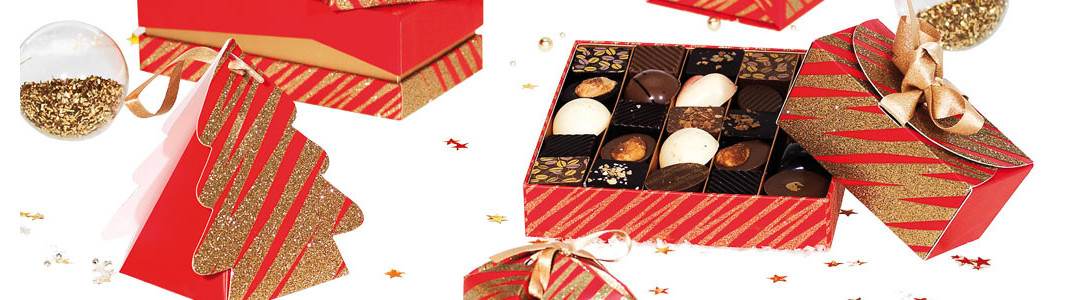 Granity Red and Gold - Collection Packagings Noël pour chocolatiers !