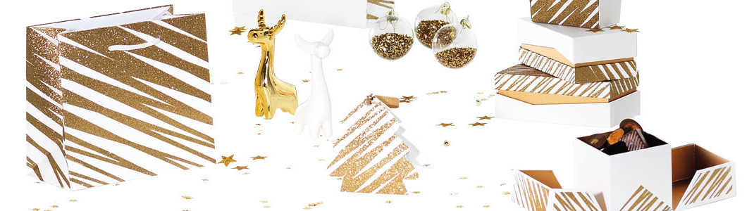 Granity White and Gold - Série de Packagings grand Luxe pour Noël !