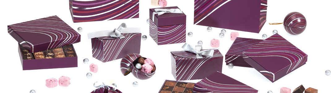 Onduline - Collection de packaging pour chocolatiers/patissiers