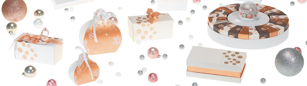 """Collection de Packagings """"Guirlande Blanche"""" pour fêtes de fin d'année"""