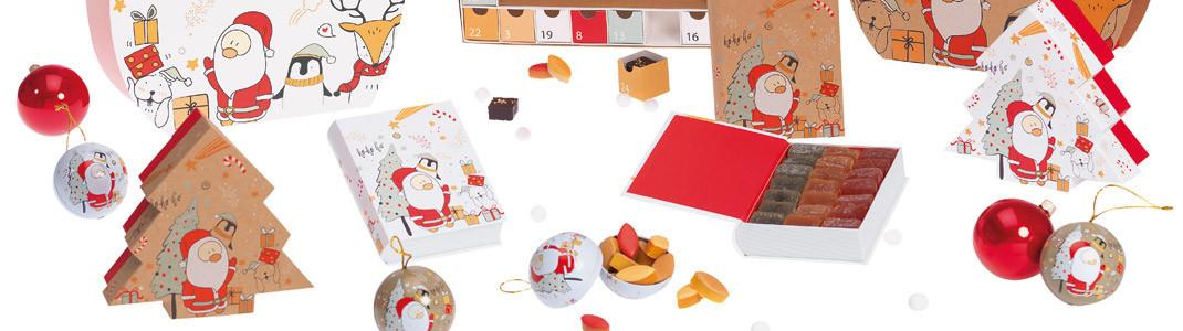 """Collection de Packagings de luxe """"Noël & Co"""" pour chocolatiers"""