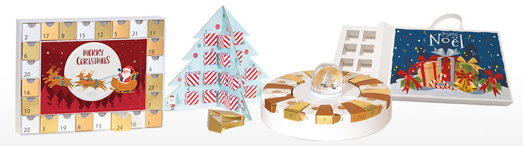 Calendriers de l'Avent personnalisables pour Chocolatiers - Embaline