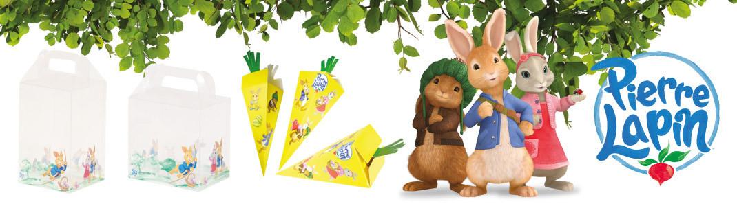 """Packagings de Pâques """"Pierre Lapin ®"""" pour chocolatiers pâtissiers"""