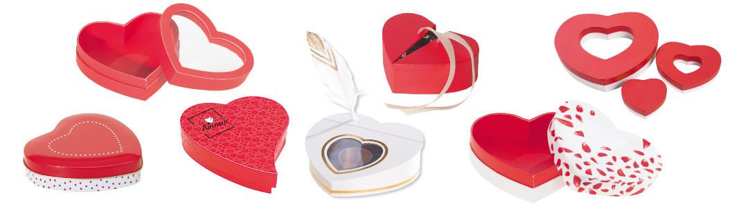 Packagings en forme de Cœur pour chocolatiers - Saint-Valentin