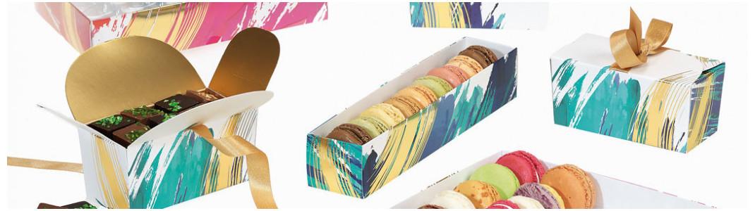 "Collection de Packagings ""Aquarelle"" pour chocolatiers - Embaline"