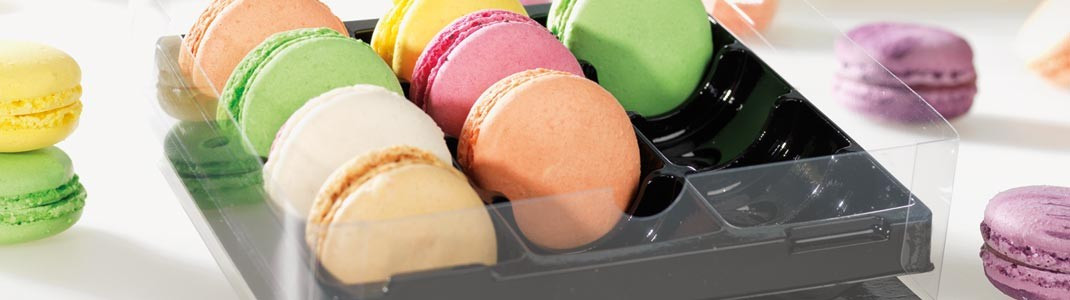 Packaging, Emballages, Boîtes Macarons - Colorées ou transparentes