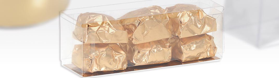 Packaging Transparents pour chocolatiers, boulangers, confiseurs