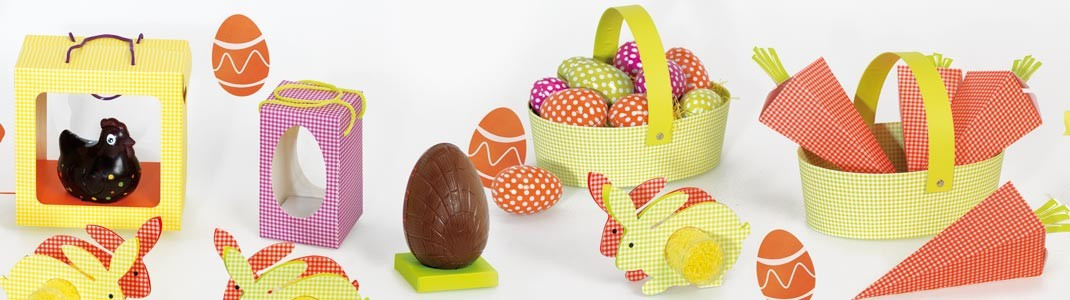 Collection d'emballages alimentaires pour Pâques - Ligne Vichy