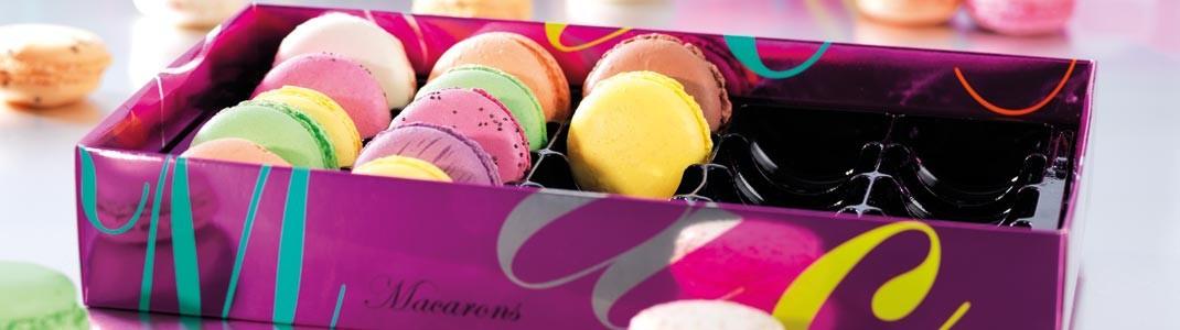 Achat de packaging pour pâtissiers - Boîtes Macarons Arabesques