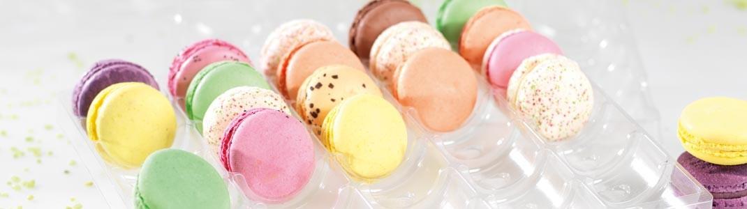 Achat de packaging pour pâtissiers - Boîtes Macarons Mac transparente