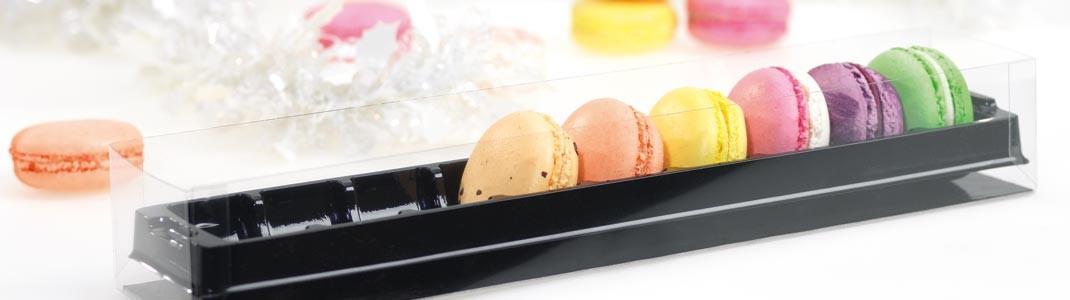 Achat de packaging pâtissiers - Boîtes Macarons Mac Trans' Moderne