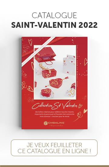Catalogue Embaline pour les packagings de Saint-Valentin à destination de Chocolatiers/Confiseurs exigeants