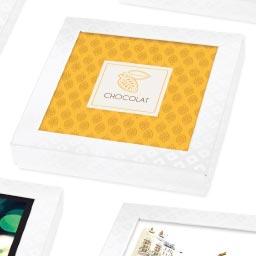 Boîte Carrée Carton avec Carte